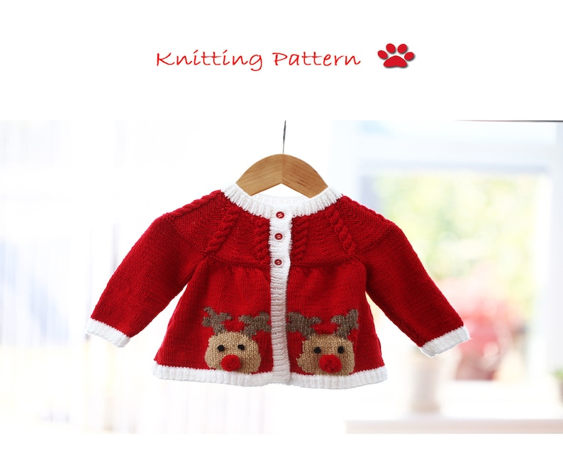 0a781cadf Rudolph the Red Nosed Reindeer Jacket Cardigan knitting