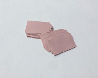 "2"" x 3.1"" Pink, 150gsm Handmade Deckle Edge Cotton Rag Paper // Deckle Edge Paper, Cotton Paper, Invitation Paper, Calligraphy Paper"