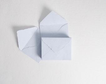 "4.5"" x 6.4"" (C6), Sky Blue Handmade Deckle Edge Envelopes // Deckle Edge Envelopes, Cotton Envelopes, RSVP Envelope, Invitation Envelopes"
