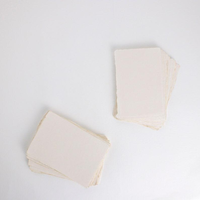 4.1 x 5.8 A6 150gsm Blush Handmade Deckle Edge image 0