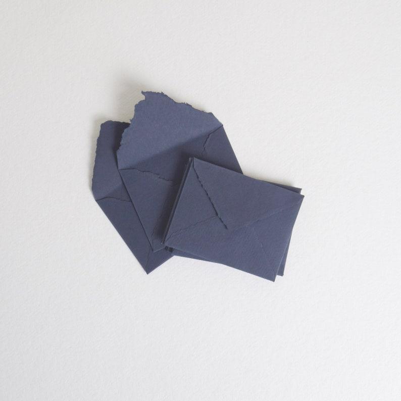 3.825 x 5.125 4-Bar Deep Blue Handmade Deckle image 0