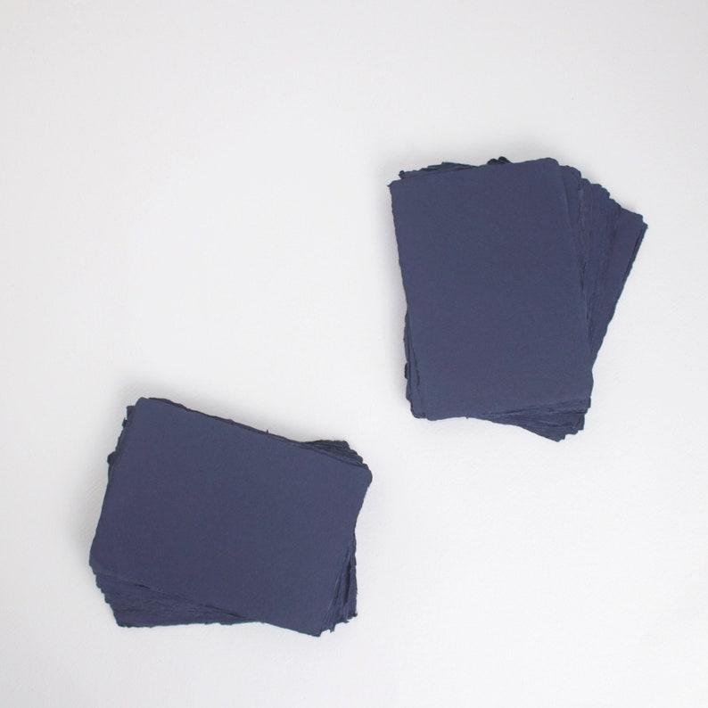 4.1 x 5.8 A6 150gsm Deep Blue Handmade Deckle image 0