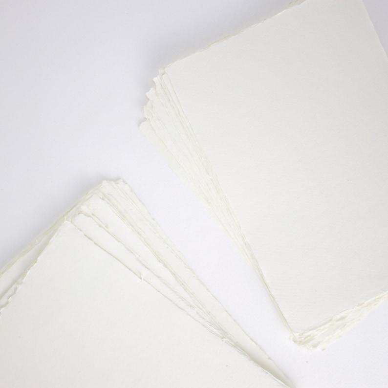 8.3 x 11.7 A4 150gsm Ivory Handmade Deckle Edge image 0