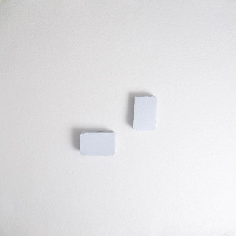 2 x 3.1 Place card 210gsm Sky Blue Handmade image 0