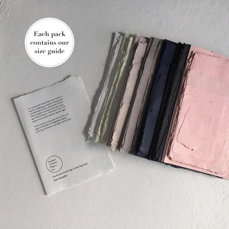 Sample Pack: Deckle Edge Handmade Cotton Rag Paper // Deckle image 0