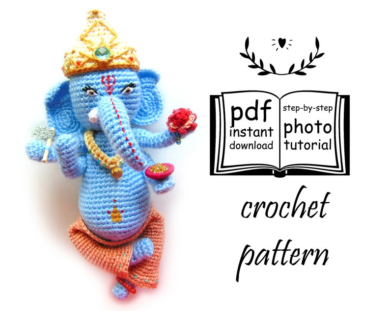 Elephant crochet – Free Amigurumi | 635x794