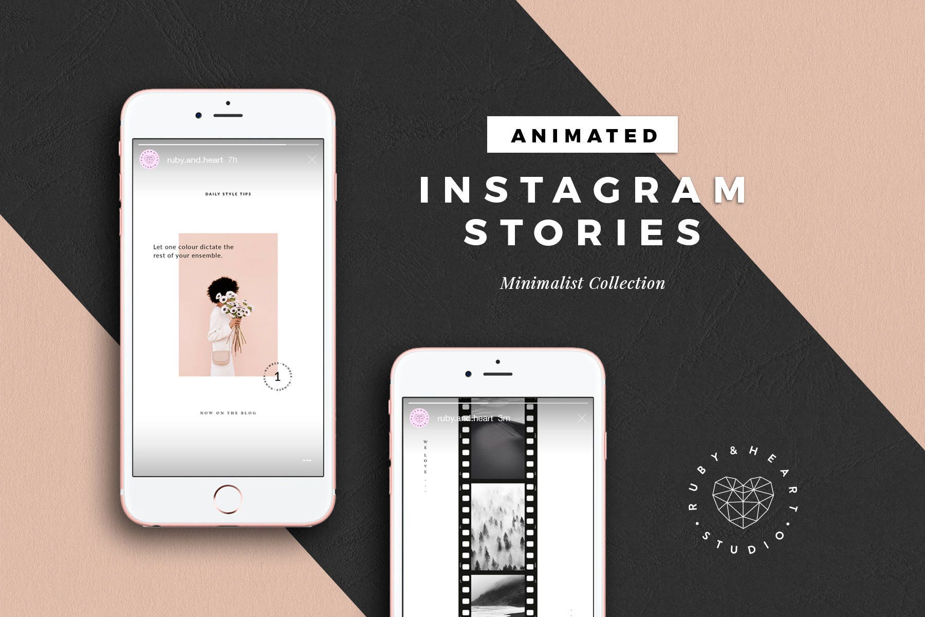 ANIMATED Minimalist Instagram Story Templates for Photoshop
