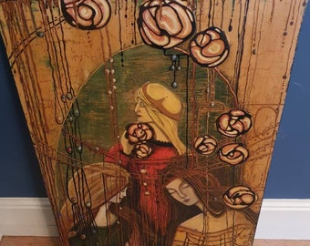 An Original Large Artwork With Medieval Religious Connotations