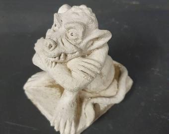 Small Handmade Crouching Gargoyle *