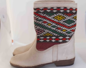 Moroccan Kilim Boots Etsy