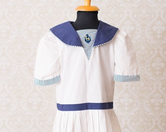 Polly Flinders Nautical Sailor Girls Dress