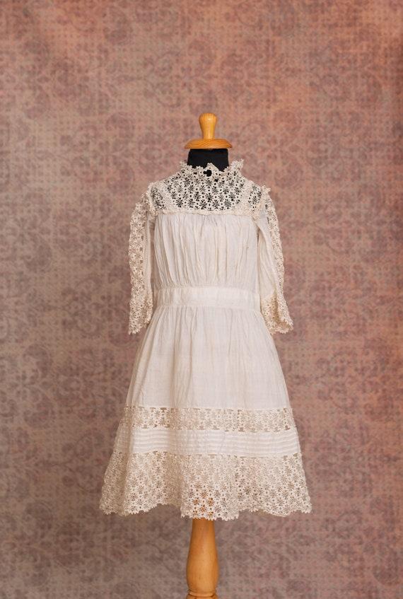1910s Girls Antique Dress