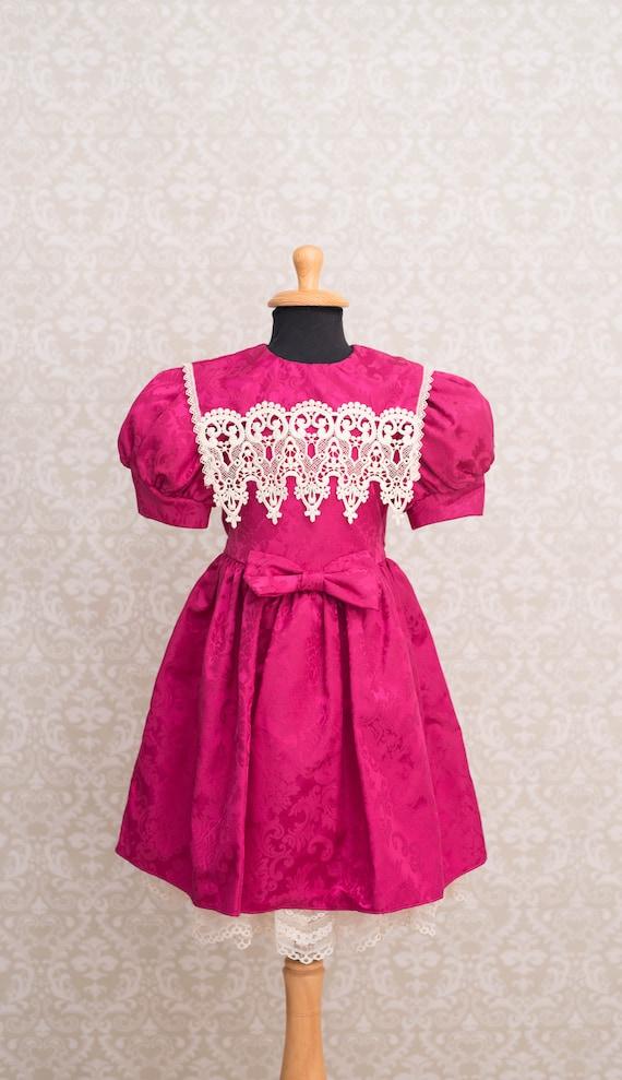 Jessica McClintock Magenta Colour Girls Dress