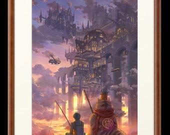 Empty Gate, anime art, anime Print, manga art, anime wall art, anime decor, manga wall art