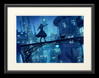 The place of the mind, anime art, anime print, manga art, anime wall art, anime decor, manga wall art