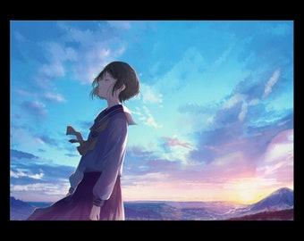 Wind of Youth, Anime art Print, manga art, Anime wall art, Anime decor, manga wall art