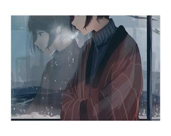 Snow Day, Anime art Print, manga art, Anime wall art, Anime decor, manga wall art