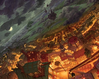 Principality of the Sky, anime art, anime print, manga art, anime wall art, anime decor, manga Wall Art