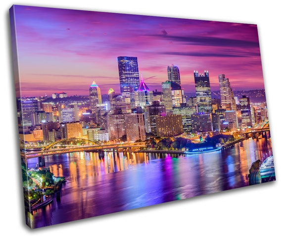 Home Decor Pittsburgh: Pittsburgh Landscapes Canvas Print Home Decor Abstract