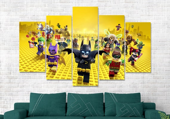 Wall Art Canvas Picture Print of Lego Batman  Framed  Ready to Hang