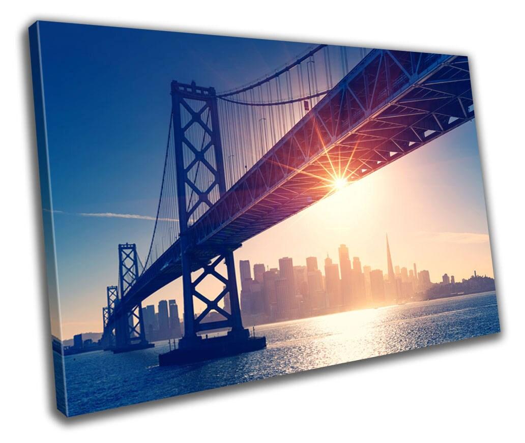 San Francisco City Canvas Print Home Decor Abstract Wall