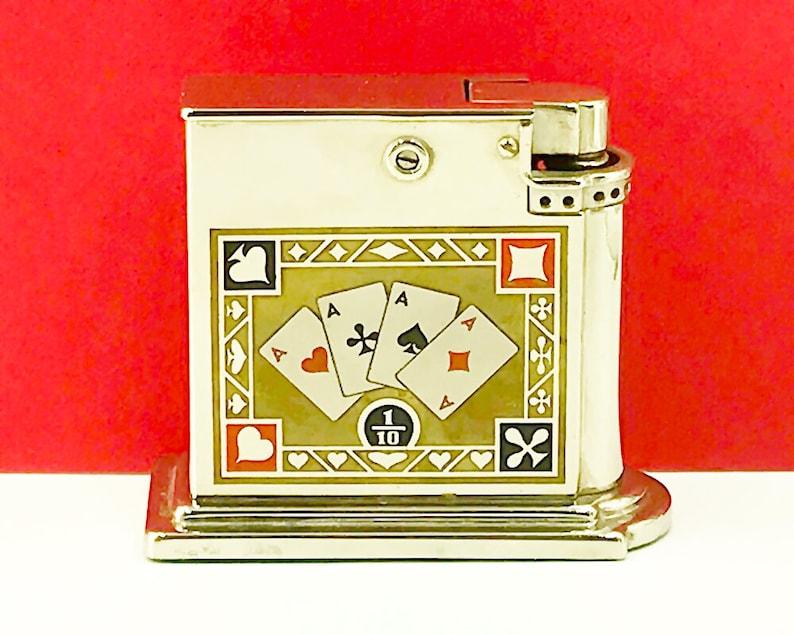 Pleasant Vintage Rowenta Four Aces Table Cigarette Lighter Interior Design Ideas Gentotryabchikinfo