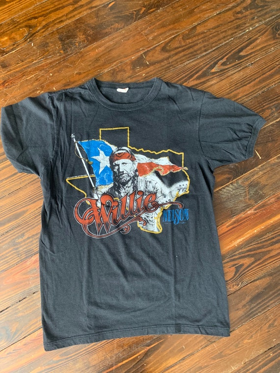 vintage WILLIE NELSON 1984 Canada Tour t shirt