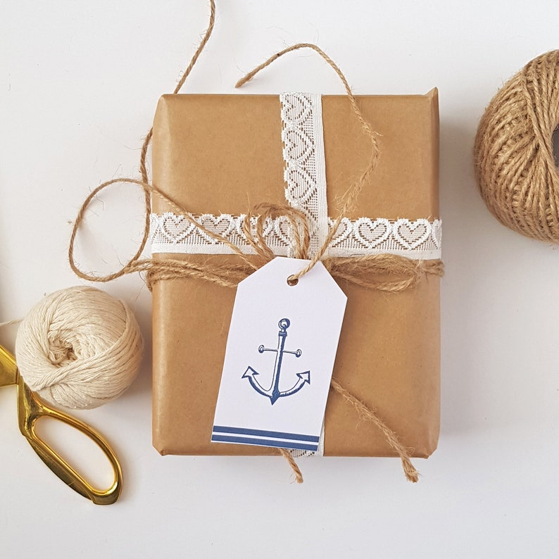 Navy Nautical Anchor Wedding Favor Tags Thank You Hang Tag Anchor Wedding  Thank You Hang Tag Printable Gift Tag Nautical Navy Favor Tags