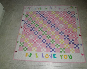P S  I LOVE YOU QUILT