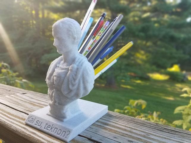 Julius Caesar Pencil Holder Extraordinary Julius Caesar Pen Pencil Holder Customizable Great Etsy