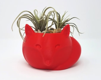 Fox Succulent Planter / Cactus Planter / Indoor Planter / Air Planter / Plant Pot / Fox Planter / Home Decor / Apartment Decor