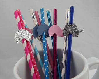Elephant paper straw (10)
