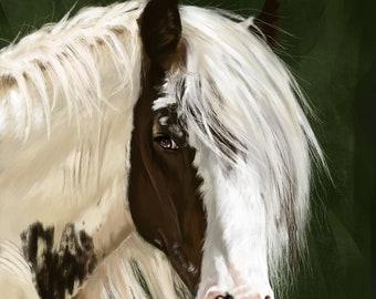 Horse Painting / Horse / Countryside Art / Wildlife Art / Equestrian Art / Horse Art / Horse Riding / Horse Lover / British Art / Equine Art