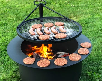SMOKELESS Patio Fire pit, Barbeque pit #2416
