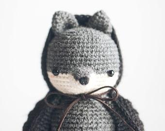 Amigurumi crochet pattern : Flynn The Wolf Amigurumi, PDF Crochet pattern (English)