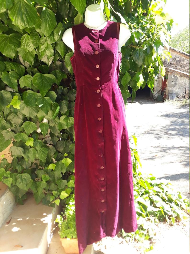 1960/'s Velveteen Maxi dress