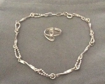 Anklet and toe ring