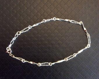 Ankle silver bracelet