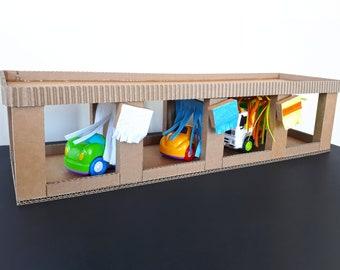 Diy Car Organizer And Toy Storage Cardboard Printable Pdf Etsy