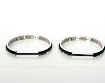 Hair Elastic Bangles Bracelet Hair accessory Stainless Steel 7ba80b4f45b