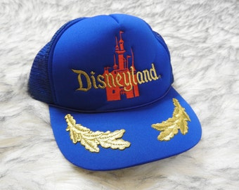 more photos 044be f912c Vintage Disneyland California Trucker Hat Mesh back Adjustable Snapback  California Mickey Mouse Walt Cartoon 90s Blue Cinderella Castle