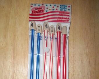 Knitting Needles Gift Set - Susan Bates  - Sizes 11-13-15 / 8-9-10mm