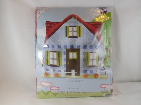 Vervaco Stamped Cross Stitch Pillow Kit New Birds in a Cage