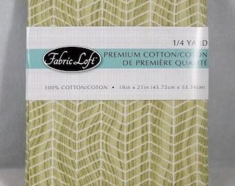 Beige & White Fishbone Fat Quarter - #109 - Fabric Loft
