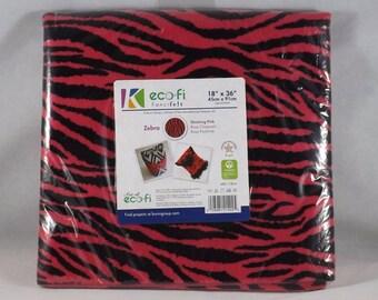 """Pink & Black Zebra - Kunin Group eco-fi Fancifelt - 18"""" x 36"""""""