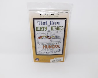 Dirty Dishes Counted Cross Stitch Kit - Design Works