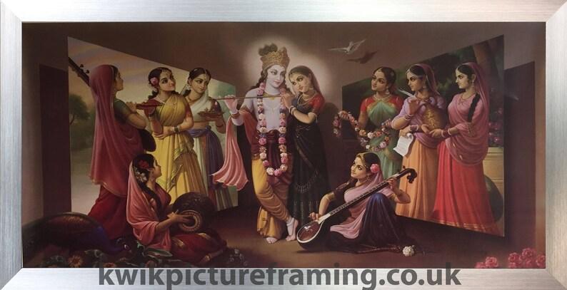 Photo Frames Online Picture Framing Gods Picture Frame Photos Frames Radha Krishna Niranjana Hindu God In Size \u2013 40\u2033 X 20\u2033 Inches