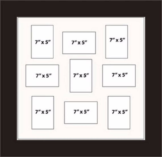 Multi Aperture Picture Frames Fits 9 7 x 5 Inches