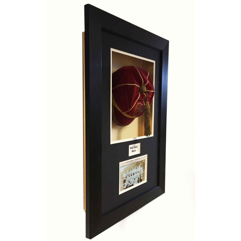 Sports Memorabilia//3D Display Case for vintage Rugby League County Cap