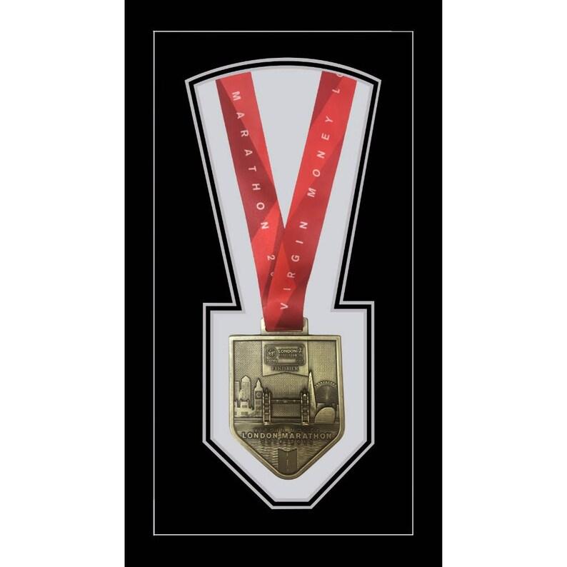 Photo Frames Sports Medals Frame London Marathon 2019 Display Frame for Single Medal Only \u2013 Black Mount Sports Framing Memorabilia